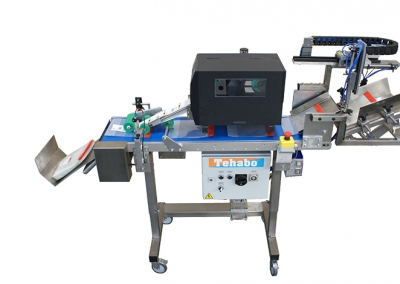 Zakjes-separator met printer en etiketteersysteem